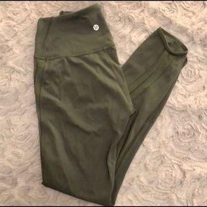 Lululemon army green leggings